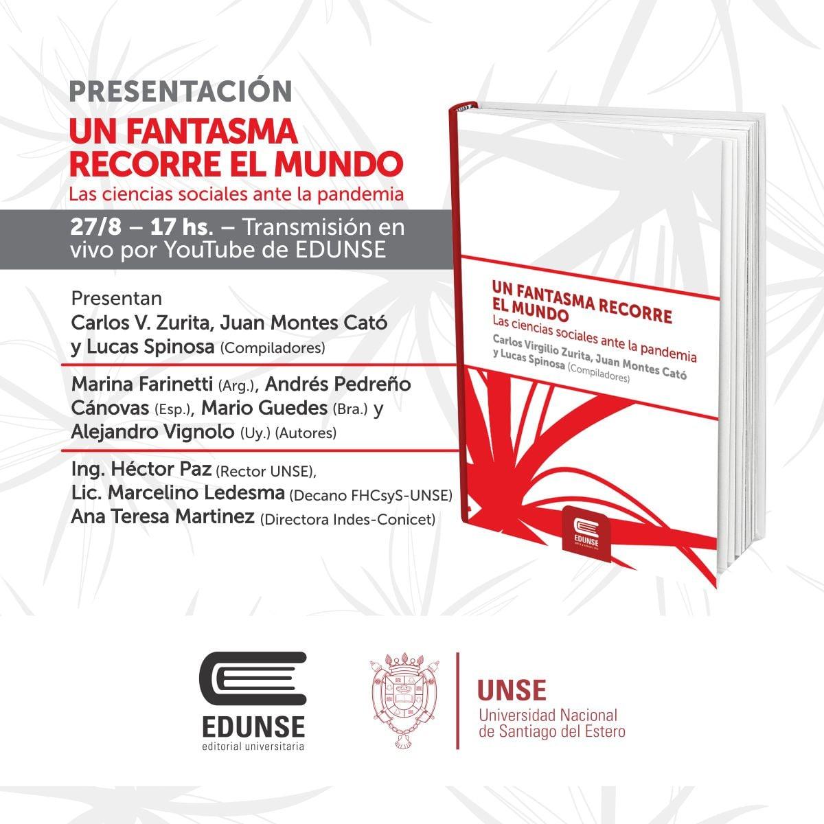 """Presentación internacional del libro """"Un fantasma recorre el mundo. Las ciencias sociales ante la pandemia""""."""